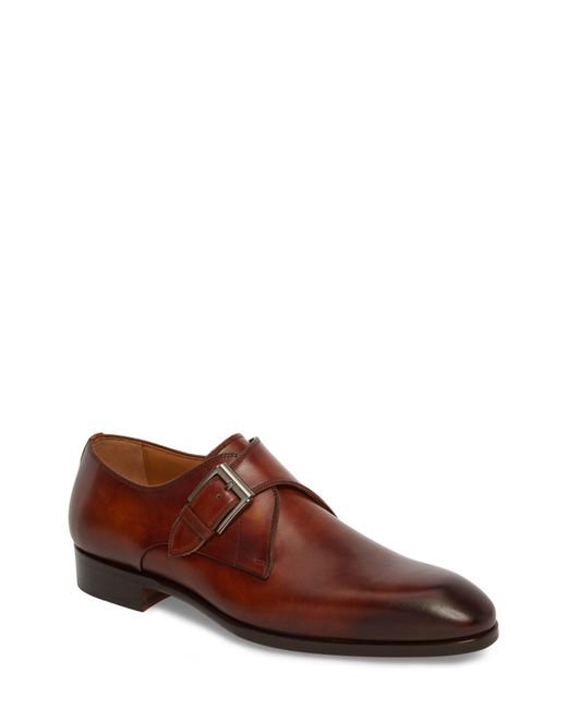 Magnanni Shoes - Brown Lazaro Single Buckle Monk Shoe for Men - Lyst