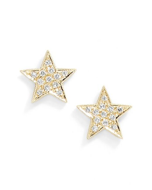 Dana Rebecca | Metallic 'julianne Himiko' Diamond Star Stud Earrings | Lyst