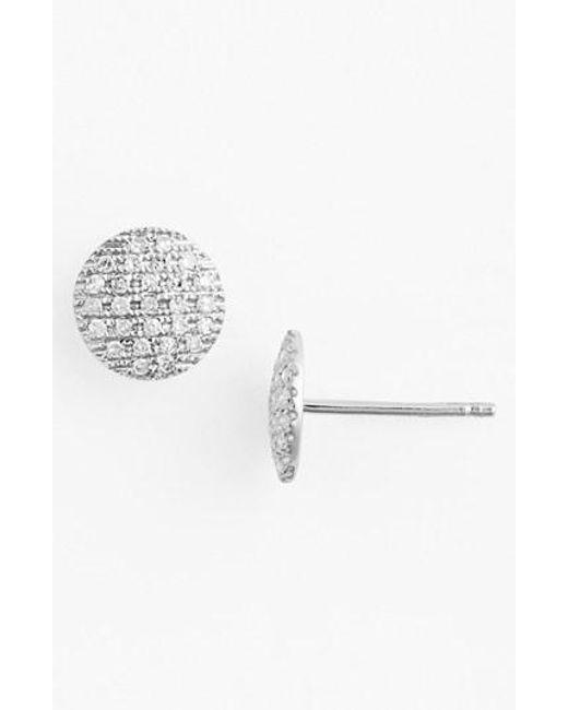 Dana Rebecca | Metallic 'lauren Joy' Diamond Disc Stud Earrings | Lyst