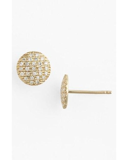 Dana Rebecca | Metallic 'lauren Joy' Diamond Disc Stud Earrings | Lyst