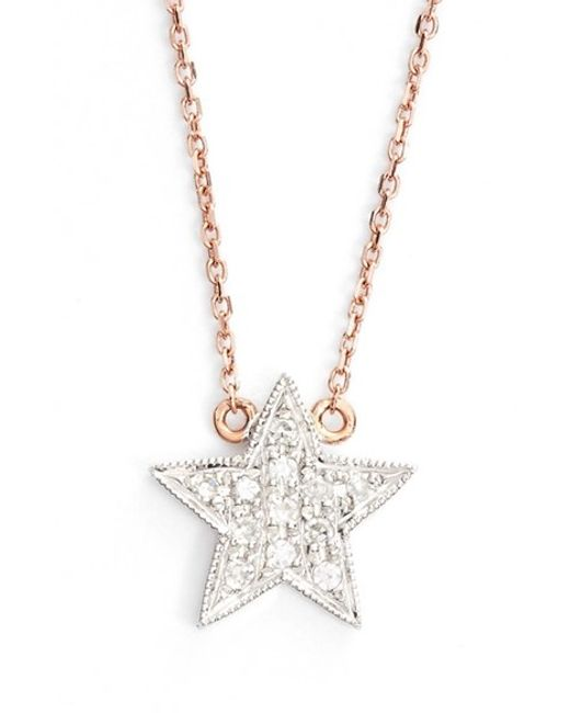 Dana Rebecca | Pink 'julianne Himiko' Diamond Star Pendant Necklace | Lyst