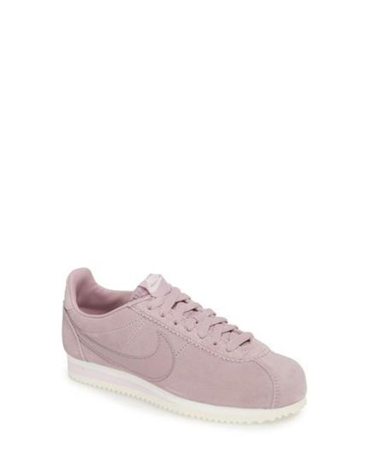 Nike - Pink Classic Cortez Suede Sneaker - Lyst
