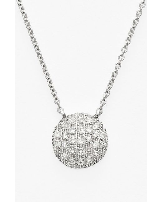 Dana Rebecca | Metallic 'lauren Joy' Diamond Disc Pendant Necklace | Lyst