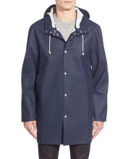 Stutterheim | Blue Stockholm Waterproof Hooded Raincoat for Men | Lyst