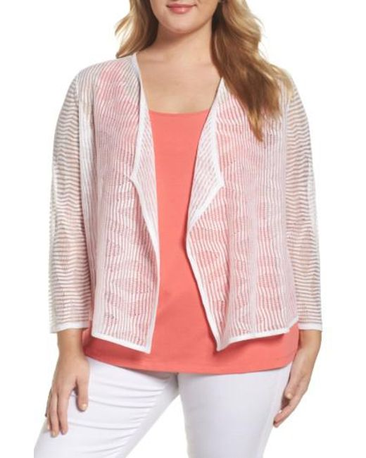 NIC+ZOE | Pink In The Clouds Cardigan | Lyst