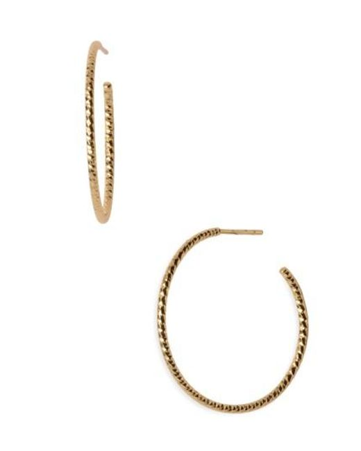 Argento Vivo | Metallic Textured Hoop Earrings | Lyst