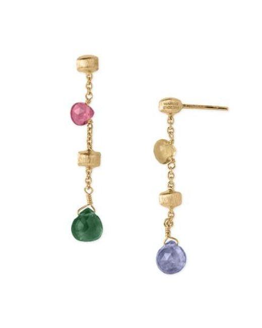 Marco Bicego | Multicolor 'paradise' Drop Earrings | Lyst