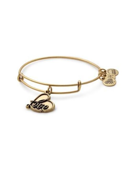 ALEX AND ANI | Metallic Love Expandable Charm Bracelet | Lyst