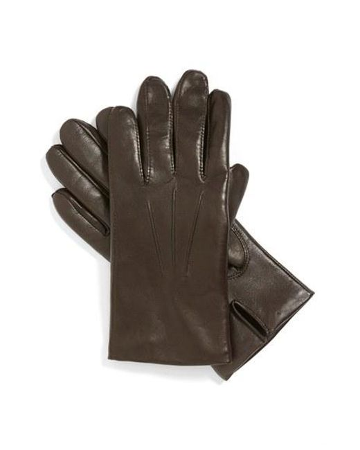 John W. Nordstrom | Brown John W. Nordstrom Leather Tech Gloves for Men | Lyst