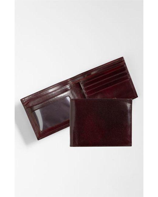 Bosca | Purple Id Flap Leather Wallet for Men | Lyst