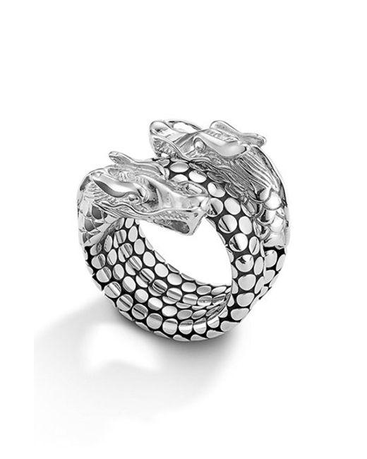 John Hardy   Metallic 'legends' Dragon Coil Ring   Lyst