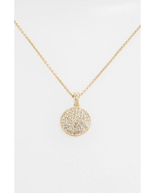 Judith Jack | Metallic Reversible Pave Pendant Necklace | Lyst