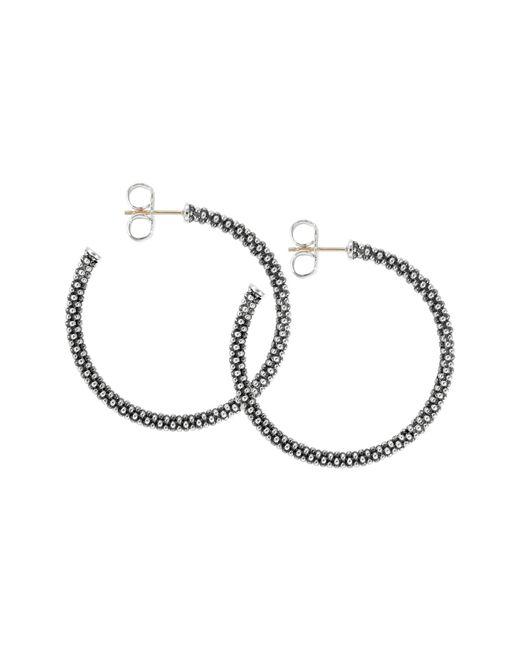 Lagos - Metallic Medium Caviar Hoop Earrings - Lyst