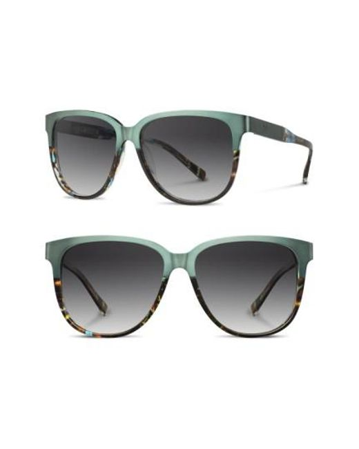 Shwood | Gray 'mckenzie' 57mm Polarized Sunglasses - Opal/ Titanium/ Grey Polar | Lyst