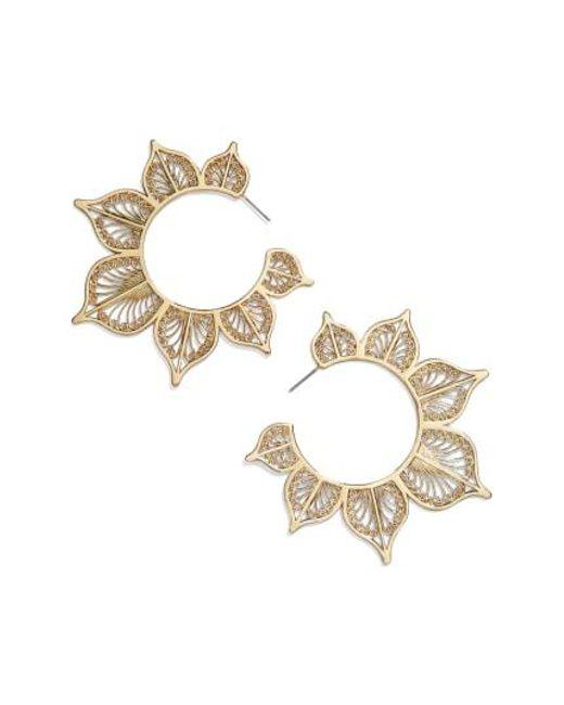 BaubleBar - Metallic Autumn Hoop Earrings - Lyst