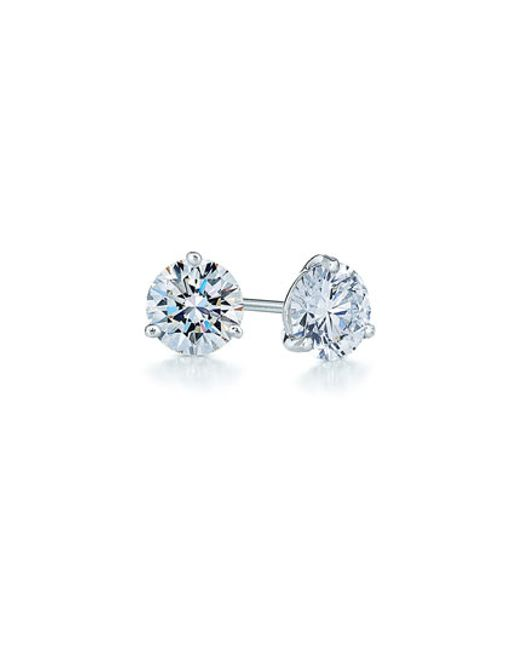 Kwiat | Blue 0.25ct Tw Diamond & Platinum Stud Earrings | Lyst