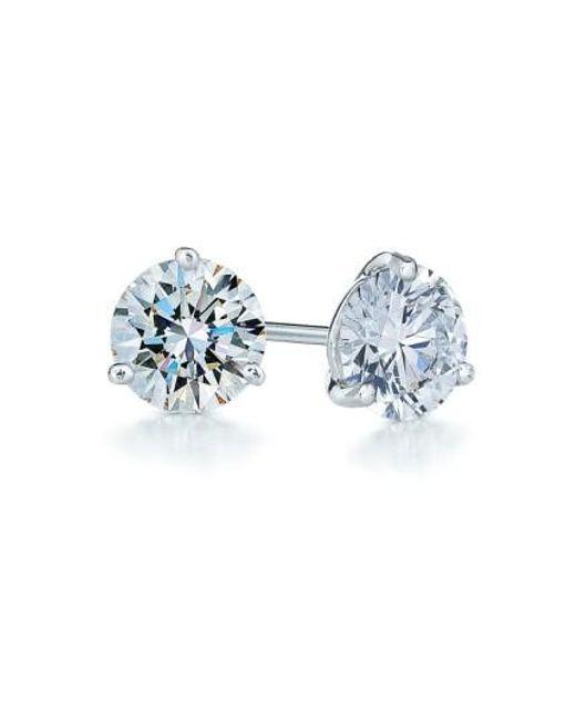 Kwiat | Metallic 1.50ct Tw Diamond & Platinum Stud Earrings | Lyst