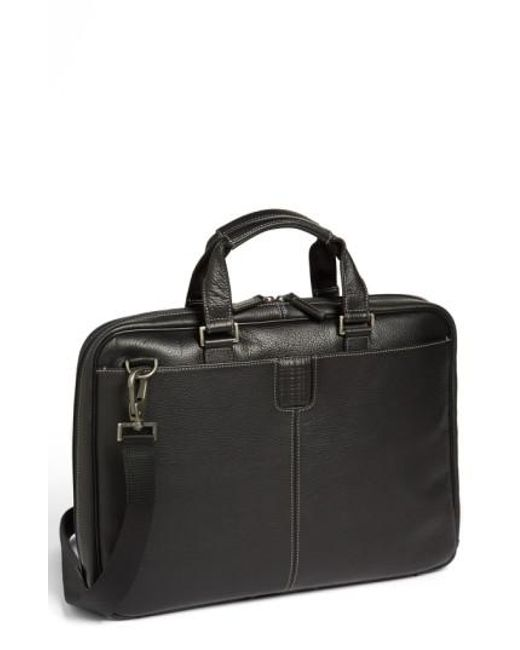 Boconi | Black 'tyler' Briefcase for Men | Lyst