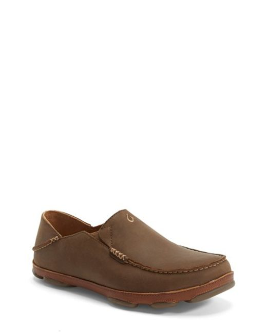 Olukai | Brown 'moloa' Slip-on for Men | Lyst