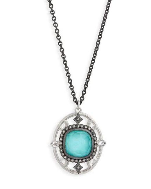Armenta - Metallic New World Crivelli Oval Drop Pendant Necklace - Lyst