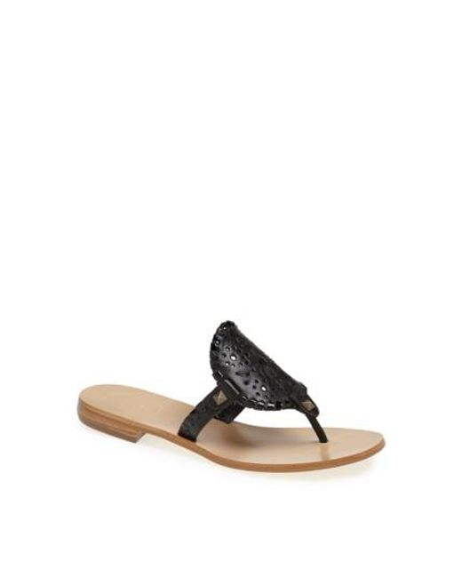 Jack Rogers | Black 'georgica' Sandals | Lyst