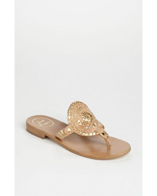 Jack Rogers | Metallic 'georgica' Sandals | Lyst