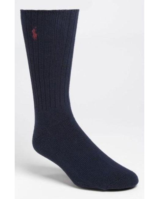 Polo Ralph Lauren | Blue Crew Socks for Men | Lyst