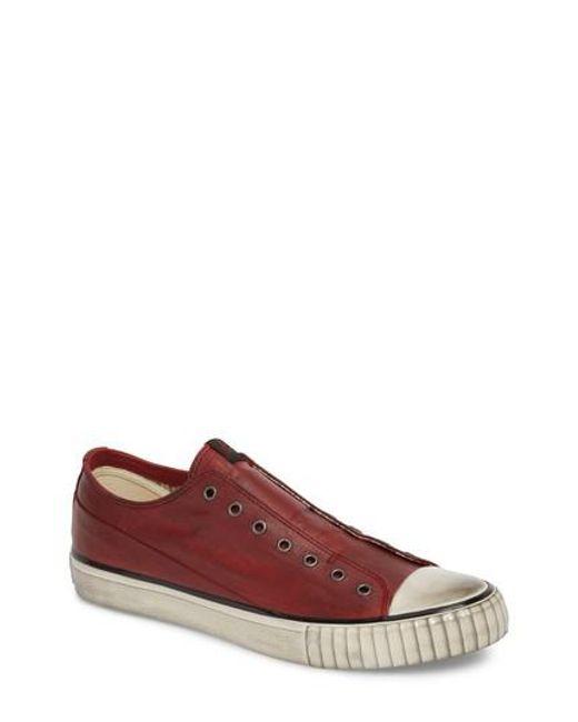John Varvatos Men's John Varvatos Star Usa Bootleg Linen Laceless Sneaker