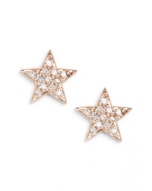 Dana Rebecca   Pink 'julianne Himiko' Diamond Star Stud Earrings   Lyst