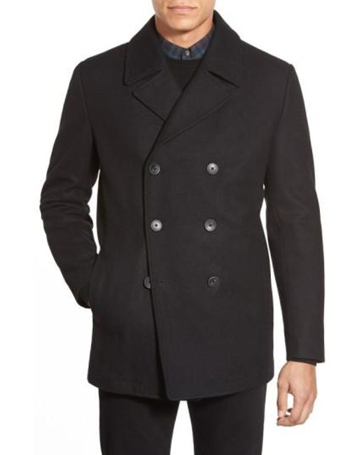 Vince Camuto - Black Classic Peacoat for Men - Lyst