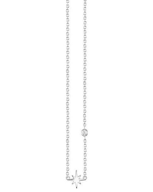 Shy By Sydney Evan - Metallic Starburst Diamond Necklace - Lyst