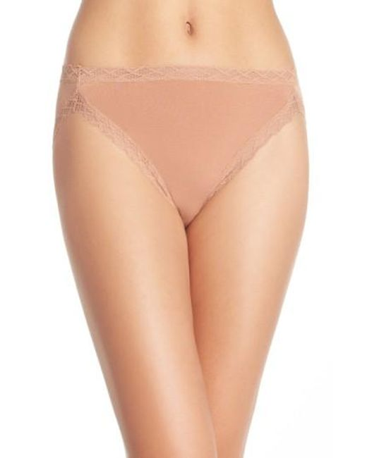 Natori | Brown 'bliss' French Cut Briefs | Lyst