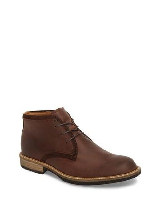 Ecco - Brown Kenton Derby Chukka Boot for Men - Lyst