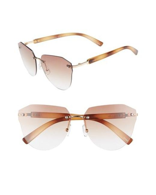 892319af7b Circus by Sam Edelman - Multicolor 60mm Rimless Cat Eye Sunglasses - - Lyst