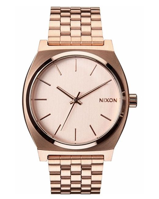 Nixon | Metallic 'the Time Teller' Watch | Lyst