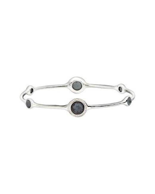 Ippolita - Metallic 'stella' 6-stone & Diamond Bangle - Lyst