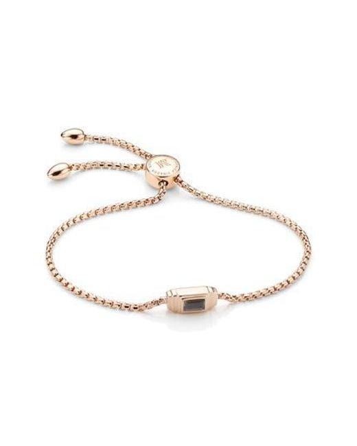 Monica Vinader - Metallic Baja Deco Stone Bracelet - Lyst