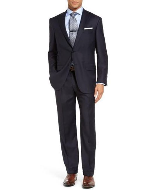 Hart Schaffner Marx   Blue Chicago Classic Fit Solid Wool Suit for Men   Lyst