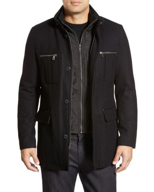 Cole Haan | Black Wool Blend Jacket for Men | Lyst