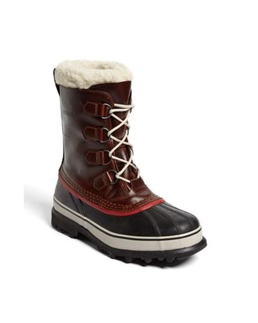 Sorel | Black 'caribou' Snow Boot for Men | Lyst