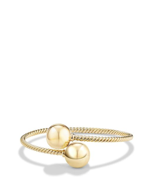 David Yurman - Metallic 'solari' Bypass Bracelet In 18k Gold - Lyst