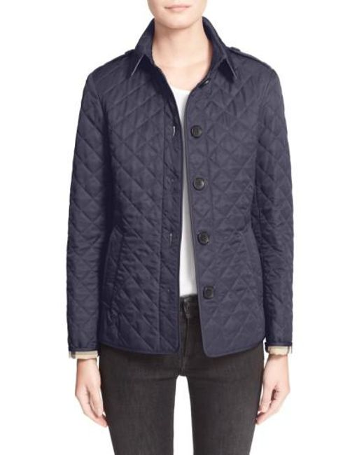 Burberry | Black Ashurst Quilted Shell Jacket | Lyst