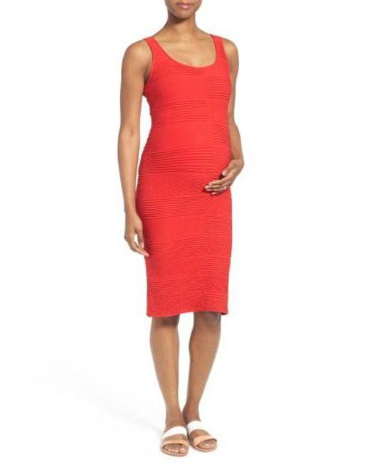 Tees by Tina | Textured Tank Maternity Dress | Lyst