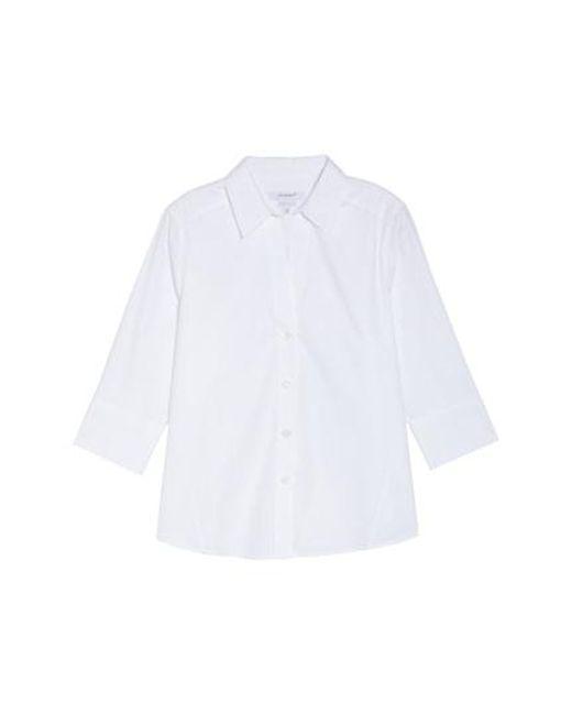 Foxcroft - White Paigely Non-iron Cotton Shirt - Lyst