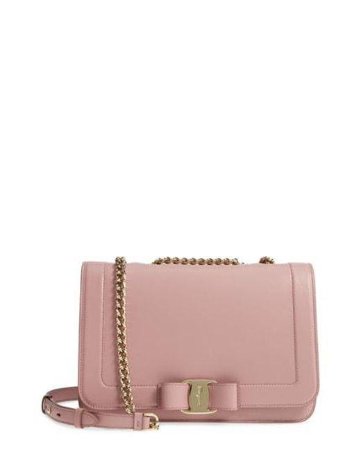 b2a478ca2ddd Lyst - Ferragamo Vara Leather Crossbody Bag - in Pink