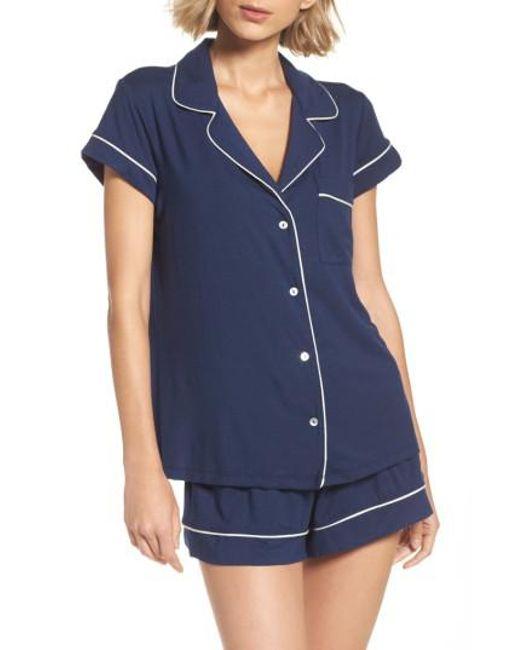 Eberjey | Blue 'gisele' Shorty Pajamas | Lyst
