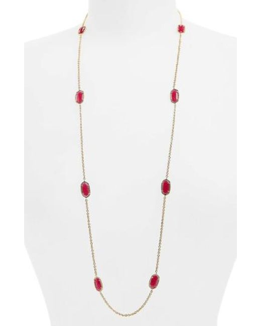 Kendra Scott | Pink 'kelsie' Station Necklace | Lyst