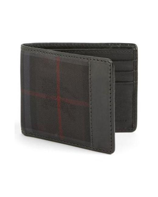 Burberry   Black Check Wallet for Men   Lyst