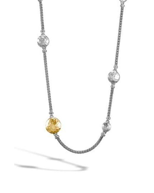 John Hardy | Metallic 'dot' Long Station Necklace | Lyst