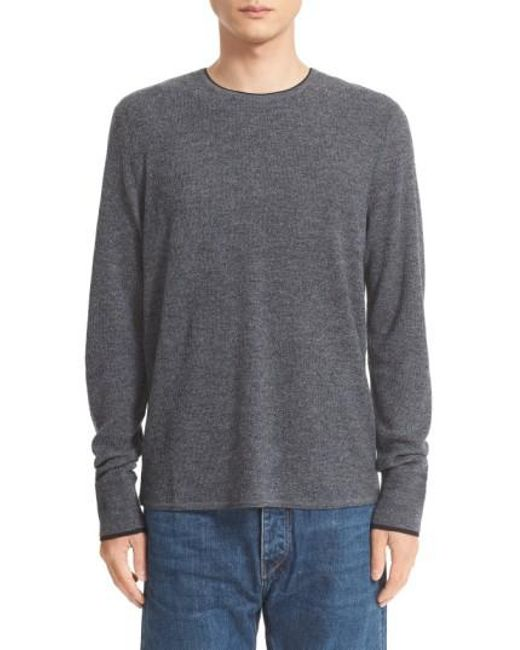 Rag & Bone | Gray 'giles' Lightweight Merino Wool Pullover for Men | Lyst